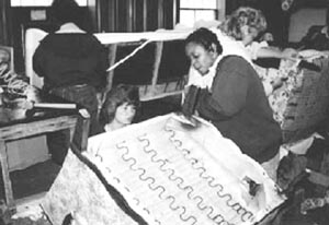 Women working in the upholstery shop at North Carolina Correctional Institution for Women