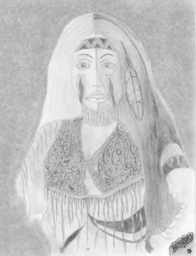 drawing of a woman, signed 'Beaudry'