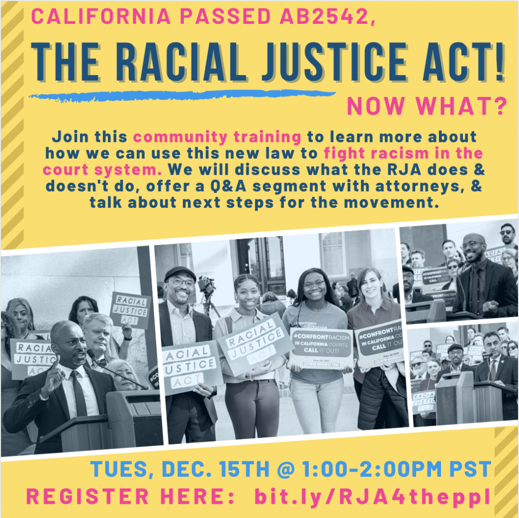 Racial Justice Act Training